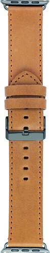 DBramante1928 Copenhagen Apple Watch 42mm Leather Watchband Light Brown / Black Main Image