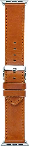 DBramante1928 Copenhagen Apple Watch 42mm Leather Watchband Dark Brown / Silver Main Image