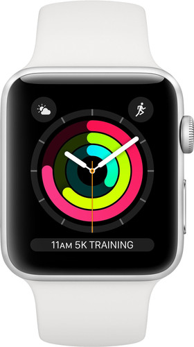 Apple Watch Series 3 42 mm Argent Aluminium/Blanc Main Image