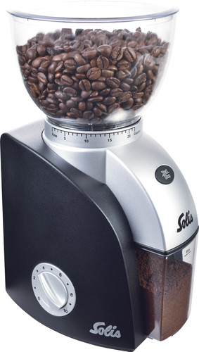Solis Scala Plus Black Coffee Grinder Main Image