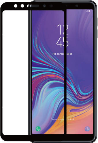 Azuri Protège-écran Verre trempé Samsung Galaxy A7 (2018) Noir Main Image
