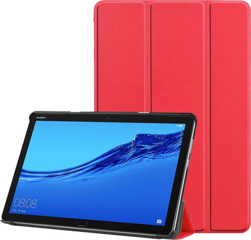 Just in Case Smart Tri-Fold Huawei Mediapad M5 Lite 10.1 Book Case Rouge Main Image