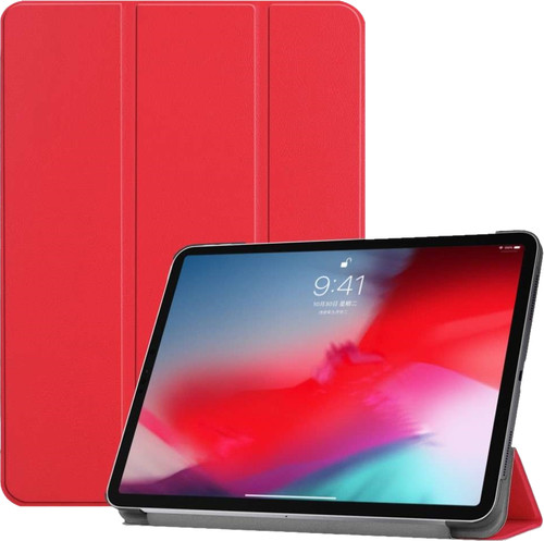 Just in Case Smart Tri-Fold Apple iPad Pro 11 Inch (2018) Book Case Red Main Image