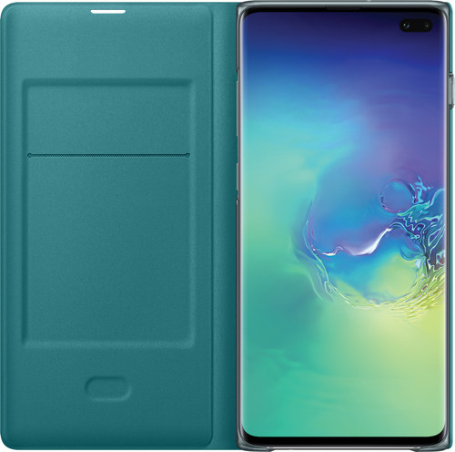 Samsung Galaxy S10 Plus LED View Cover Book Case Green Main Image