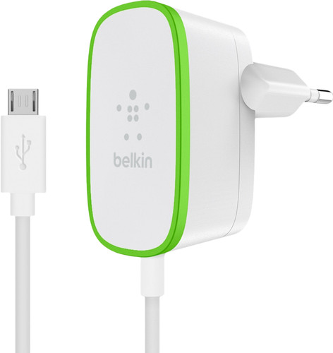 Belkin Home Charger 12W + fixed Micro-Usb Cable White 1.2m Main Image