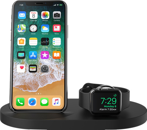 Belkin Boost Up Draadloze Oplader met USB A Poort iPhone/Apple Watch Zwart Main Image