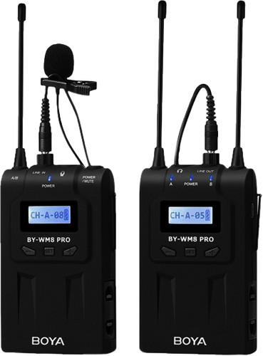 Boya UHF Duo Lavalier Microphone Wireless BY-WM8 Pro-K1 Main Image