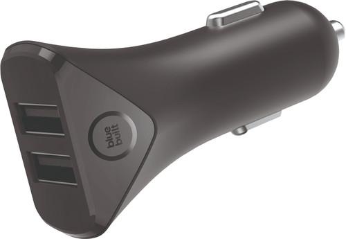BlueBuilt Chargeur de voiture 2 USB 4,8 A USB Noir Main Image