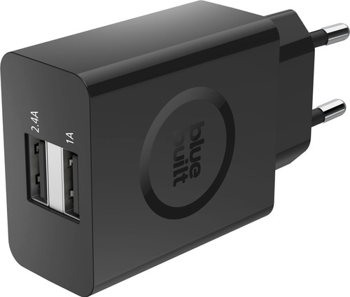 BlueBuilt 3.4A Charger with 2 USB Ports Black Main Image