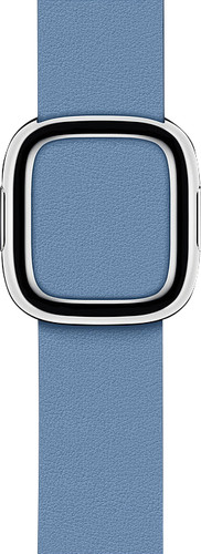Apple Watch 40mm Modern Leather Watchband Cornflower Blue - Medium Main Image