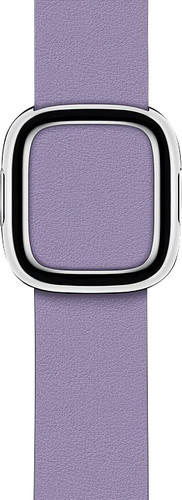 Apple Watch 38/40mm Modern Leather Watch Strap Lilac - Small Main Image