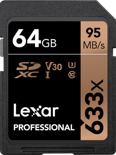 Lexar SDXC Professional UHS-I 633x 64 Go Main Image