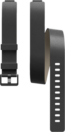 Fitbit Inspire / Inspire HR Double Strap Leather Black Main Image