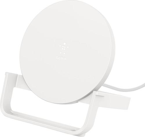 Belkin Boost Up Chargeur sans fil 10 W avec support Blanc Main Image