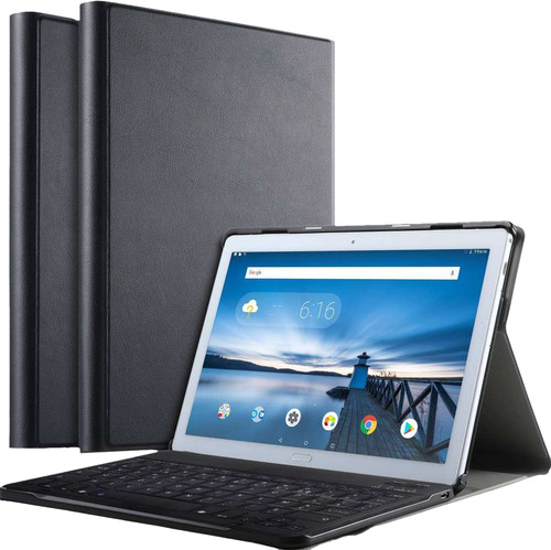 Just in Case Premium Bluetooth Lenovo Tab P10 Étui Clavier AZERTY Noir Main Image