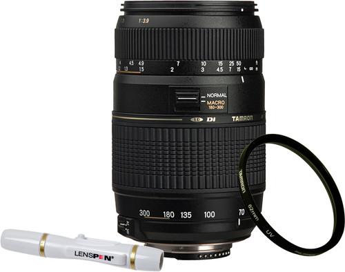Tamron AF-D 70-300mm f/4.0-5.6 Di LD Nikon FX + UV-Filter 62mm + Elite Lenspen Main Image