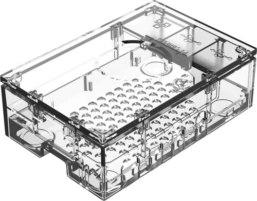 Multicomp Pro Raspberry Pi 4 casing - Transparent Main Image