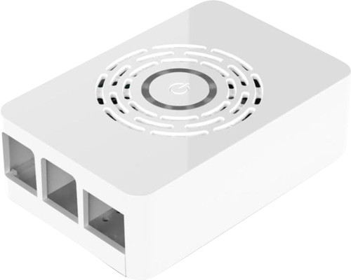 Multicomp Pro Raspberry Pi 4 Boîtier - Bouton d'Alimentation - Blanc Main Image