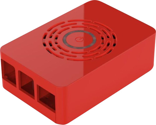 Multicomp Pro Raspberry Pi 4 casing - Power button - Red Main Image