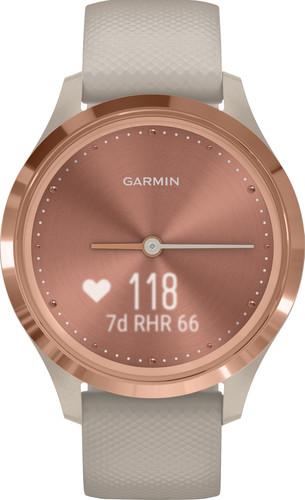 Garmin Vivomove 3S Sport - Rosé Goud/Beige - 39 mm Main Image