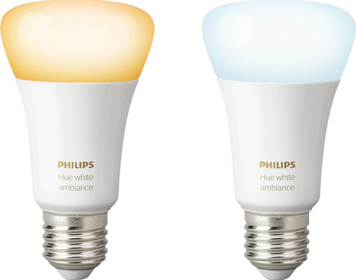 Philips Hue White Ambiance E27 Bluetooth Lot de 2 Main Image