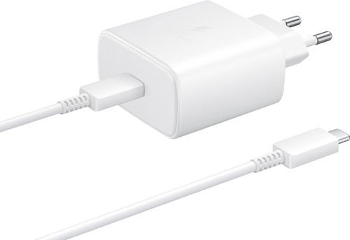 Samsung Charger with Cable 1m USB-C 45W with Power Delivery White Main Image