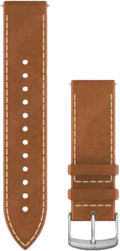 Garmin Quick Release 20mm Watch Strap Leather Light Brown Main Image