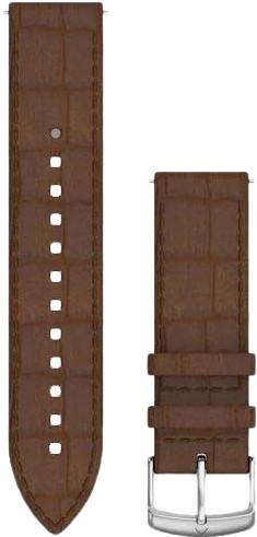 Second Chance Garmin Quick Release 20mm Watch Strap Leather Dark Brown Main Image