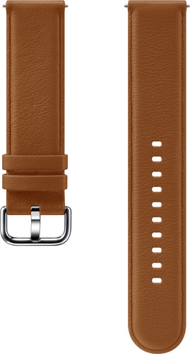 Samsung Galaxy Watch Active 2 Leather Strap Brown Main Image