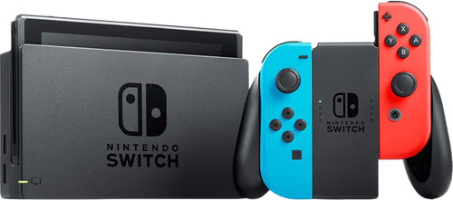 Nintendo Switch (2019 Upgrade) Rood/Blauw Main Image