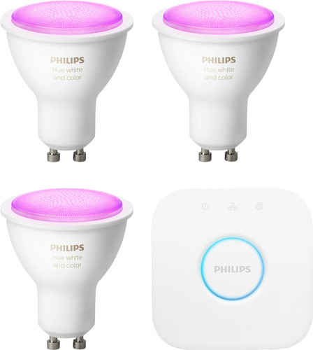 Philips Hue White & Colour GU10 Kit de démarrage Main Image