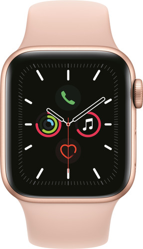 Apple Watch Series 5 40mm Goud Aluminium Roze Sportband Main Image