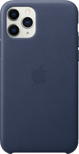 Apple iPhone 11 Pro Leather Back Cover Middernachtblauw Main Image