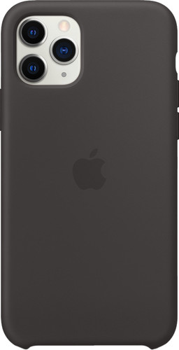 Apple iPhone 11 Pro Max Silicone Back Cover Black Main Image