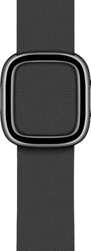 Apple Watch 38/40mm Modern Leather Watch Strap Black - Small Main Image