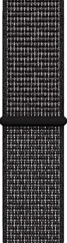 Apple Watch 42/44mm Nylon Sport Loop Nike Watch Strap Black Main Image