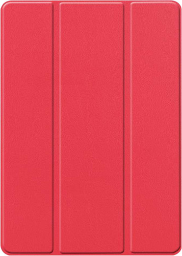 Just in Case Smart Tri-Fold Apple iPad (2019) Book Case avec Support Pencil Rouge Main Image