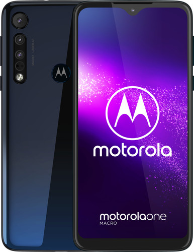 Motorola One Macro Blue Main Image