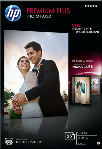 HP Premium Papier photo brillant 25 feuilles (10 x 15) Main Image