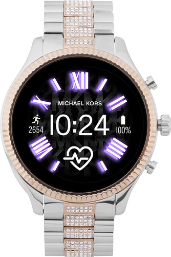 Michael Kors Access Lexington Gen 5 MKT5081 - Argent/Or Rose avec petits diamants Main Image