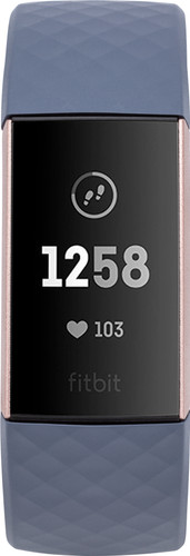 Fitbit Charge 3 Blue Grey/Rose Gold Aluminium Main Image