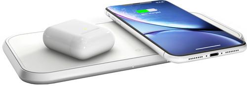ZENS Dual Chargeur sans fil 10 W Blanc Main Image