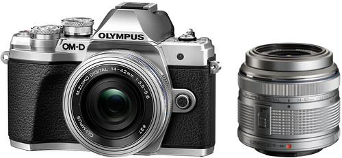Olympus OM-D E-M10 Mark III Body Silver + 14-42mm IIR Silver Main Image