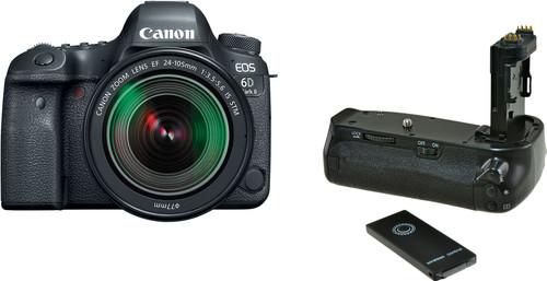 Canon EOS 6D Mark II + 24-105mm f/3.5-5.6 IS STM + Poignée d'alimentation Jupio (BG-E21) Main Image