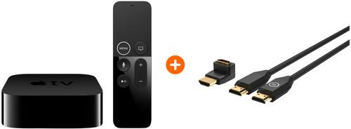 Apple TV 4K 64GB + BlueBuilt HDMI Kabel Nylon 1 Meter Zwart + 90° Adapter Main Image