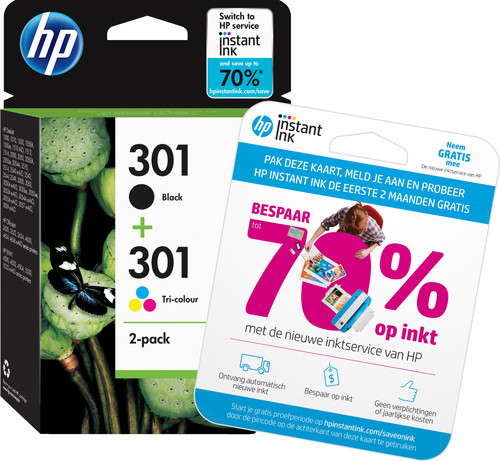 HP 301 Cartouche d'encre Pack Combo (N9J72AE) Main Image