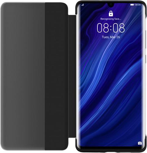 Huawei P30 Pro View Flip Cover Book Case Black Main Image