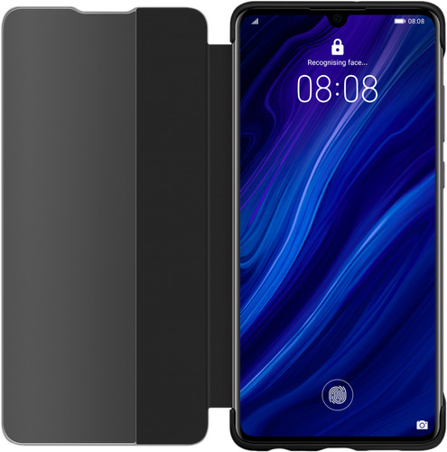 Second Chance Huawei P30 View Flip Cover Book Case Black Main Image