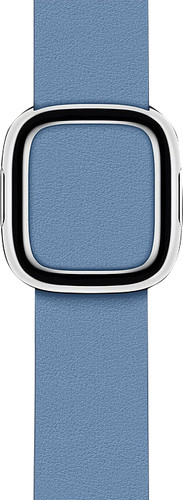 Apple Watch 38/40mm Modern Leather Watch Strap Cornflower Blue - Large Main Image