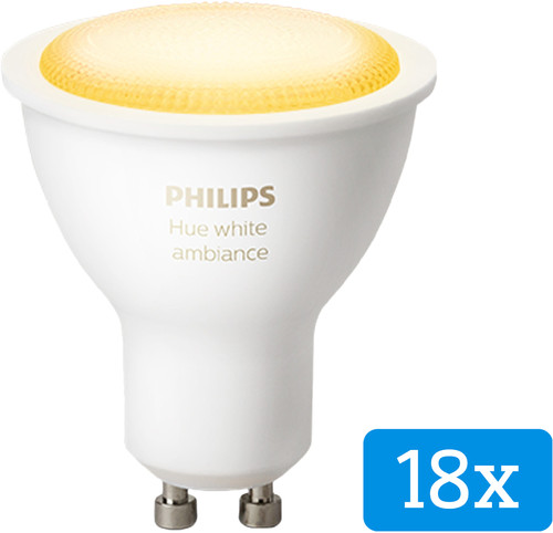 Philips Hue White Ambiance GU10 Bluetooth 18-Pack Main Image